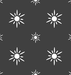 Sun icon sign Seamless pattern on a gray vector