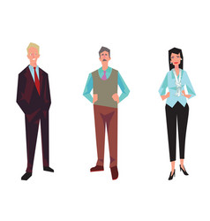 three office workers employees managers vector image