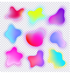 vivid gradient spots set with abstract elements vector image