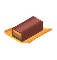waffle chocolate icon isometric style vector image