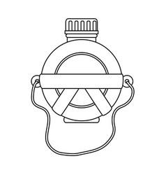 Water canteen icon vector