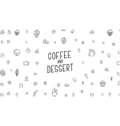 white background with drawings hand food vector image