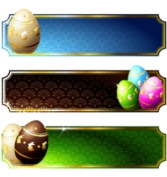 banners with eggs vector image