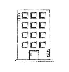 blurred silhouette cartoon facade building vector image vector image