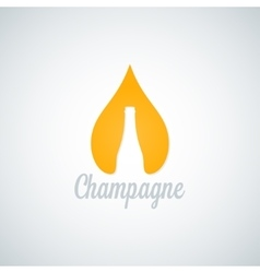 champagne glass bottle drop background vector image vector image