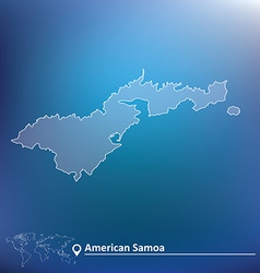 Map of American Samoa vector image vector image