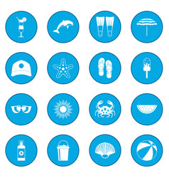 summer icon blue vector image