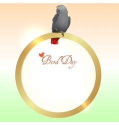 Bird Day background vector image