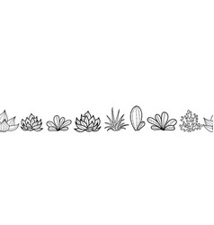 black and white seamless horizontal repeat vector image