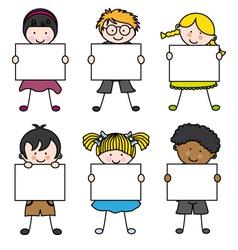 Cute cartoon kids frame vector image vector image