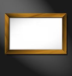 empty wooden frame vector image