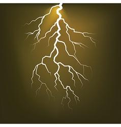 Lighting flash on the dark sky vector image vector image