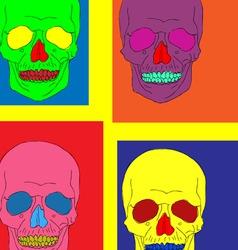 pop art skull vector image