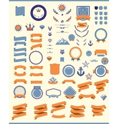 Set of the design elements vector image