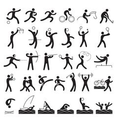 Sports Athletes Symbol Set vector image