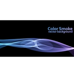 Blue and violet colored smoke background vector image vector image
