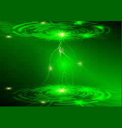 green circle and light technology background vector image