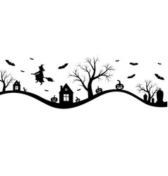 halloween banner with witch vector image vector image
