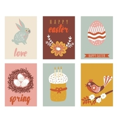 Happy easter greeting cards template with Easter vector image