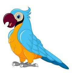 cute parrot cartoon vector image vector image