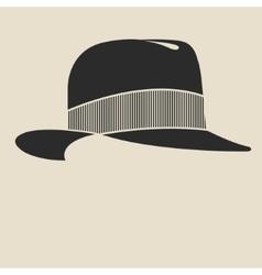 Felt hat vector image