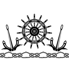 handwheel vector image vector image