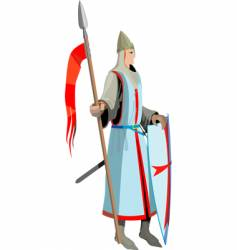 knight with spear vector image vector image