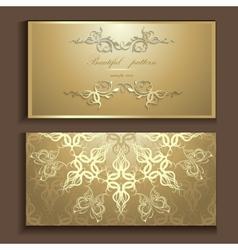 luxury card vector image