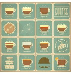 Set of Retro Coffee Labels vector image vector image