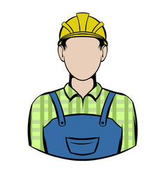 Worker icon cartoon vector
