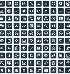 100 analytics research icons set vector