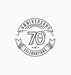 70 years anniversary celebration logo template vector