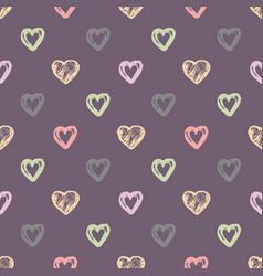 a heart seamless pattern vector image