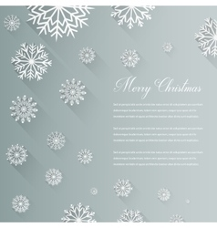 Abstract Christmas card with snowflakes and vector image vector image