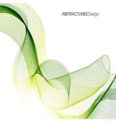 Abstract Green Lines Design vector