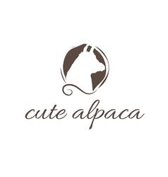 Abstract icon of alpaca vector
