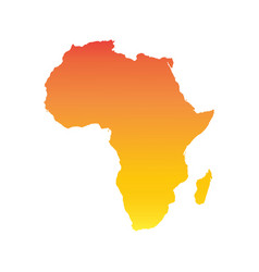 Africa map colorful orange vector