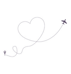 airplane path vector image