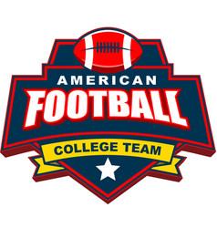 american football college team badge logo design vector image