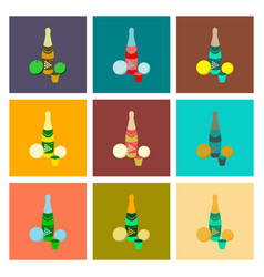 Assembly flat champagne oranges vector
