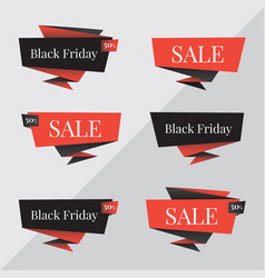 black friday sale banner black friday vector image