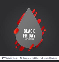 Black friday super sale badge vector