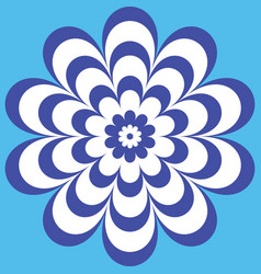 blue flower with a beautiful patterned petals vector image
