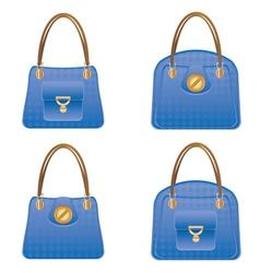 Blue handbags vector image
