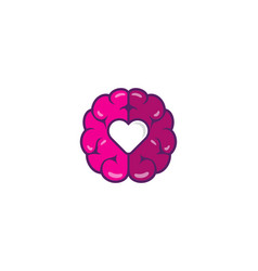 brain love logo icon design vector image
