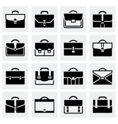 Briefcase icon set vector