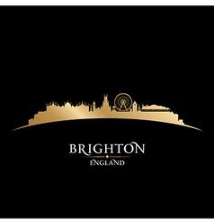 Brighton england city skyline silhouette vector