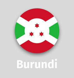 burundi flag round icon vector image