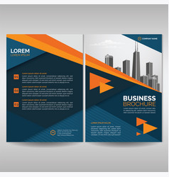 business brochure cover template with orange vector image