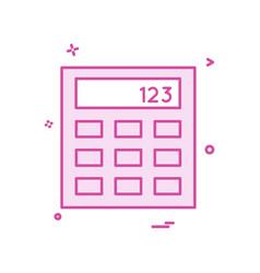 calculator business office icon design vector image